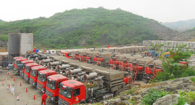 Jereh Frac Spread for China's First Shale Gas Horizontal Well