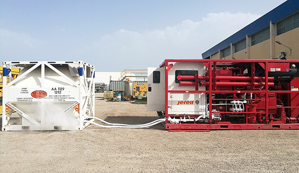 Skid Mounted HR Nitrogen Pumping Unit in Tunisia